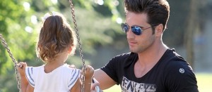 David Bustamante, un día en el parque con Daniella