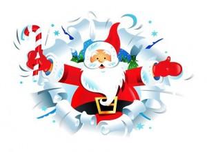 Dar la bienvenida a Papá Noel