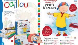 Los libros de Caillou con Diario de Navarra