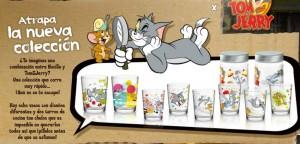 Colección de vasos de Tom y Jerry con Nocilla