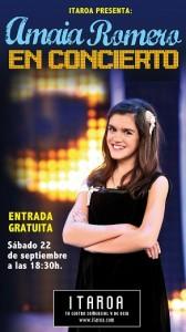 Concierto de Amaya Romero, concursante de El Número Uno, en Itaroa