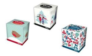 Las cajas Kleenex se visten de invierno
