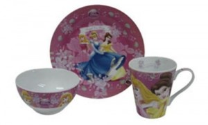 Set de tazas de desayuno Princesas Disney