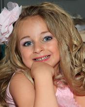 Isabella Barrett, modelo infantil de 6 años
