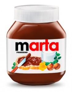 Personaliza con tu nombre tu tarro de Nutella