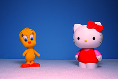 Tweety vs. Hello Kitty (17/365)