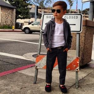 Alonso Mateo un icono de estilo de 5 años