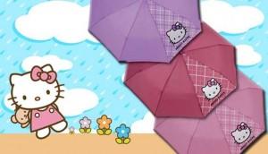 Paraguas de Hello Kitty con Diario de Navarra