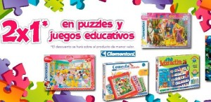 Oferta de 2x1 en juegos y puzzles Clementoni en Toy'R'Us