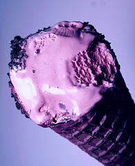 Colorful Black Raspberry Ice Cream Cone