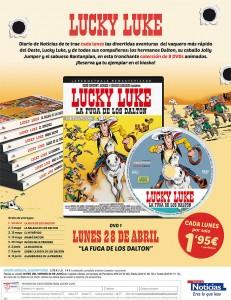 Promoción Lucky Luke con Diario de Noticias